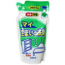 街の雑貨屋さんで買える「マイ 住まいの洗剤(スプレーボトル用) 詰替 350ml/ ロケット石鹸」の画像です。価格は80円になります。