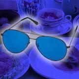 青色ダイエットめがね(青色めがね)■青色サングラス 青色アイグラス リラックスで食欲を抑える 青色めがねダイエット 眠る前に5分程度つけてから眠るとリラックスレビュー記入の方に「お