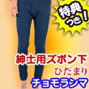 3特典【送料無料+お米+ポイント】 ひだまり 健康肌着 チョモランマ 紳士用ズボン下 ネイビー 暖か