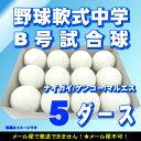 野球 軟式 ボール 【ナイガイ/ケンコー/マルエス】 中学生 軟式 B号 試合球 5ダース 60球