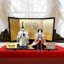 雛人形 立ち雛 平安優香作 京十番 花ごろも親王飾り 会津塗り おしゃれ コンパクト 特典付
