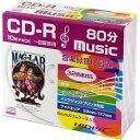 磁気研究所 CD-R 音楽用 80分 32倍速対応 ワイドプリンタブル R_1層10P