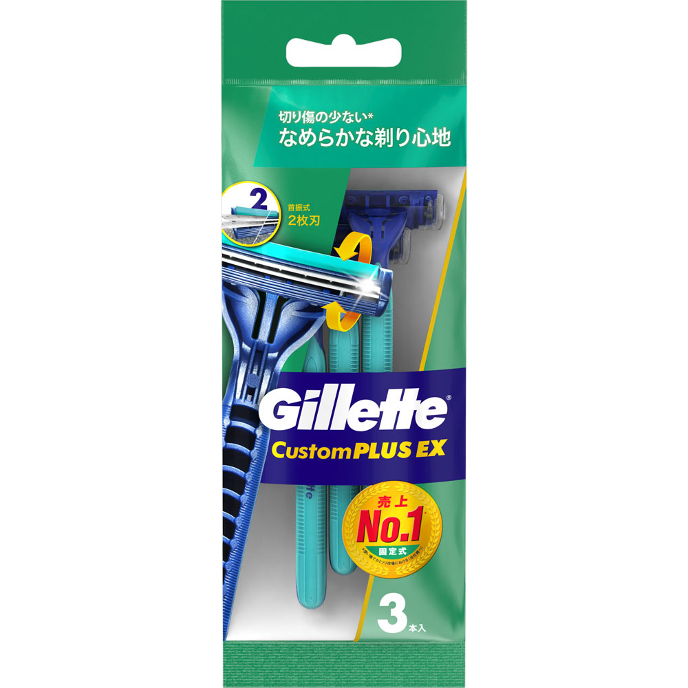 P&Gジャパン カスタム プラスEX ディスポーザブル 首振式 3本入