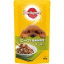 マ-スジヤパンリミテッド ペディグリー パウチ スープタイプ 成犬用 ビーフ&緑黄色野菜 チーズ入り 130g