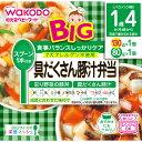 和光堂 BIGサイズの栄養マルシェ 具だくさん豚汁弁当 130g、80g