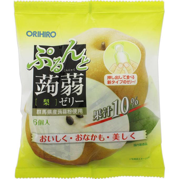 オリヒロプランデュ ぷるんと蒟蒻ゼリーパウチ 梨 20g×6個