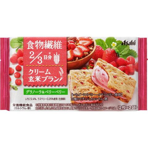 アサヒグループ食品株式会社 バランスアップ クリーム玄米ブラン グラノーラ&ベリーベリー 2枚X2袋