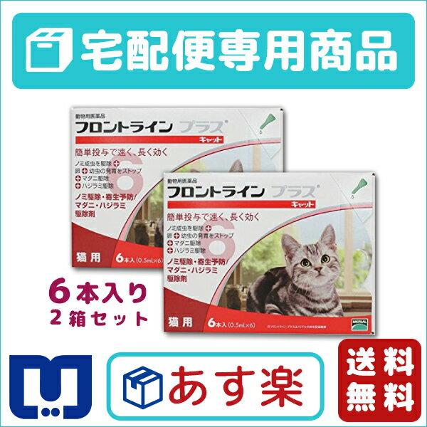 【最大500円OFFクーポン】【送料無料】フロントラインプラス猫用 1箱6本入 2箱セット…...:matsunami:10001561