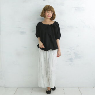 Re-Sarah; is cool! A feminine dolman sleeve tunic made with one piece of black gauze! The tunic blouse * Lady's-free Cool Biz of the silhouette, economy in power consumption biz, sweat take measures relaxedly
