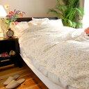 布団カバー 軽い ガーゼ1枚仕立て 表プチフラワー小花柄 *ダブルサイズ 190×210cm