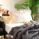 松並木の【限定販売】素敵なフリル付きプチフラワー小花柄ガーゼ枕カバー*43×63cm【Nuddy Cotton】(R)綿100% アレルギー 敏感肌 アトピーもマクラカバー ピローケース オールシーズン快眠 吸汗速乾/丸洗いOK『日本製』