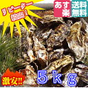 あす楽対応!5kg(約55粒)クール便送料無料! 宮城県産 殻付き牡蠣 殻付き 無選別牡
