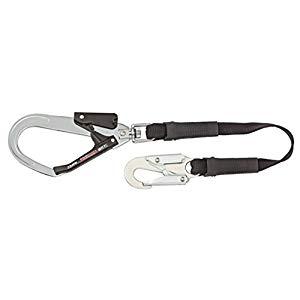 2丁掛け平ロープL280cm安全帯ランヤード小フックTJMデザインFR80L2SB