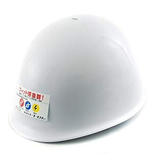 ABS製ヘルメット白トーヨーセフティ110-OT