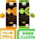 果実の楽園プラス 500mlパック【みかん酒、キウイ酒】12本のケース販売です。