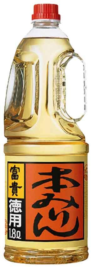 合同酒精 本みりん富貴 徳用ペット1800ml2ケースまで、1個分の送料で発送可能!!