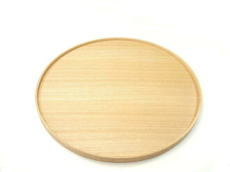 """Plain coated tamo round tray (large)' (wooden, Japanese-style, Western-style, simple, modern, natural, round basin / Japan made)"