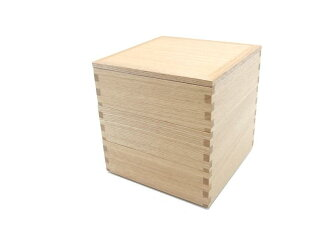 """Plain painted ash 6-three boxes in red ' (wooden, Japanese-style, Western-style, simple, modern and natural / Japan made)"