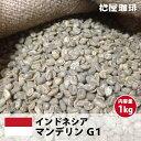 コーヒー生豆珈琲豆未焙煎1kgインドネシアマンデリンG1(IndonesiaMandhelingG1)