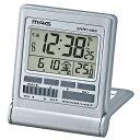 マグ トラベルクロック デジタル電波置時計 ミネルバ T-714 SM-Z 銀メタリック MAG 在庫限り