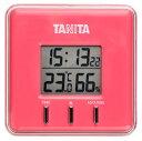 【メール便送料164円】 タニタ おしゃれなデジタル温湿度計 マグネット スタンド 壁掛け可 時計機能付 TANITA TT-550-PK ピンク