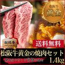 焼肉セット 1.4kg(松阪牛鉄板焼き 900g+秘伝のタレ...
