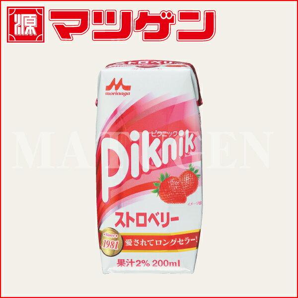 ピクニック ストロベリー 森永乳業 200ml×24本入