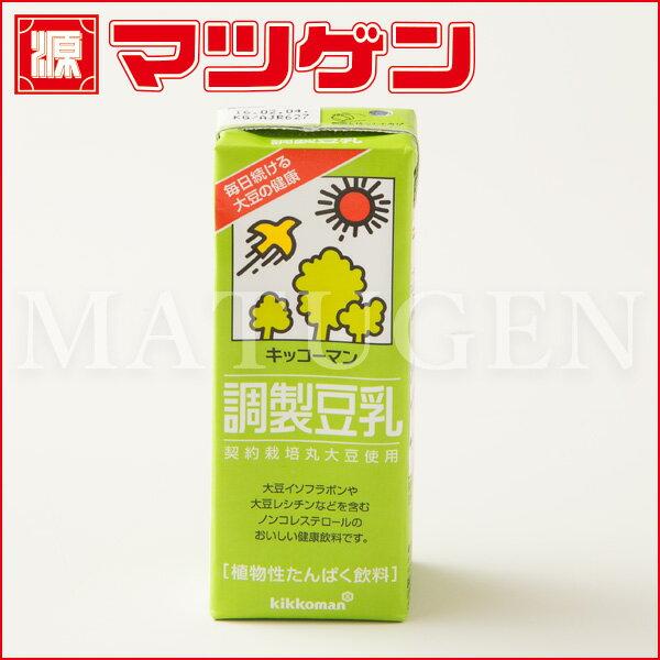 調整豆乳 キッコーマン200ml×18本入