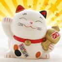 幸せ招き猫/宝くじ入れ/みけ/まねきねこ/祈願/福猫/陶器