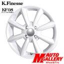 送料無料 ケイフィネス KF08 4.5J-14インチ 4穴 100 ホワイト KENDA ケンダ KR23A 165/55R14 軽自動車用 新品サマータイヤ ホイールセット
