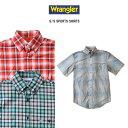 Wrangler ラングラー 半袖チェックスポーツシャツ 全3色 【ラッピング・返品・交換不可】
