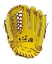 HI-GOLD(ハイゴールド) 軟式野球グラブ心極SERIES 外野手用グローブ ナチュラルイエロー×タン KKG-7418 10P03Dec16