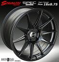 ■ STEALTH Racing SPEC-01 ■18X8.75J+15 PCD114.3 バラ売り2本セット走り屋/チューニングカーにお勧め幅広サイズ!!強い逆ゾリのレーシングデザイン