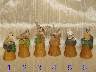 Various owl species 6 ( OWL OWL OWL ) British made sterling classic ( STERLING & CLASSIC ) sewing model top thimble ( thimbles )