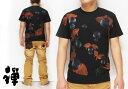 ショッピング鉢 禅[ZEN] 金魚鉢 手描き和柄Tシャツ/半袖/日本製/KTMU0003/送料無料【禅 手描き 和柄Tシャツ】[シンプル]