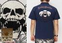 ショッピングPS JUNKY'S PARADISE[ジャンキーズパラダイス] トリプルスカル刺繍 ポロシャツ/半袖/JPS-502