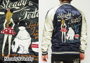 Steady&Teddy[ステディ&テディ] ファスナー&マウス 刺繍 スカジャン/171008/送料無料【ステディ&テディの新作スカジャン!】