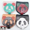 パンディエスタ PANDIESTA レザー コンパクト コインケース 熊猫レザーワークス パッチワーク フェイス 530452 送料無料