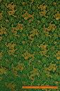 チャイナドレス用生地 チャイナ生地 コスプレ 舞台 よさこい グリーン 中国製 【50cm以上10cm単位での販売】