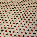 全部で6色! 綿麻キャンバスキルティング 星柄 7C 赤・紺/生成地 【シンプルスター・ベーシックスター・レッド・ネイビー/ナチュラル】【綿(コットン)80%麻(リネン)20% 110cm幅 日本製】小物雑貨・レッスンバッグ・シューズバッグ・クッションカバーにオススメ【10cm単位】