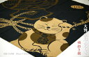 【縁起物】大判の木綿風呂敷90cm×90cm特大の京都製です。ねこ、うさぎ、ふくろう、なまず。(染色縫製:日本製)木綿シャンタン織この品は箱なしエコ包装です。/厄除/招福/不苦労/福兎/ギフト包装無料