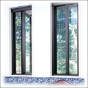 【送料無料・ジャストサイズでお届け】片引き 装飾窓用 あと付け網戸「アルマーデIII(3)」/サイズD