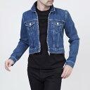 バレンシアガ BALENCIAGA デニムジャケット Gジャン ジップアップブルゾン インディゴブルー ブルー系 460797 tsb06 4364 メンズ【ラッピング無料】【返品送料無料】