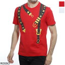 【アウトレット】ヴェルサーチェ VERSACE クルーネック Tシャツ メンズ デザイン カットソー カジュアル a85176 a228806 a1227 BELT PRINT T-SHIRT【あす楽対応_関東】【返品送料無料】【ラッピング無料】