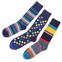ポールスミス Paul Smith ソックス 3足セット マルチカラー メンズ m1a sock fpackc 47 SOCK PACK MIXED【あす楽対応_関東】【返品交換不可】【ラッピング無料】 2021SS