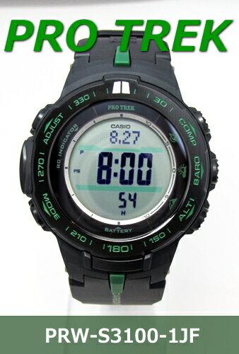 送料無料♪カシオ PROTREKメンズソーラー電波腕時計【PRW-S3100-1JF】(正規品) 【以下のような】
