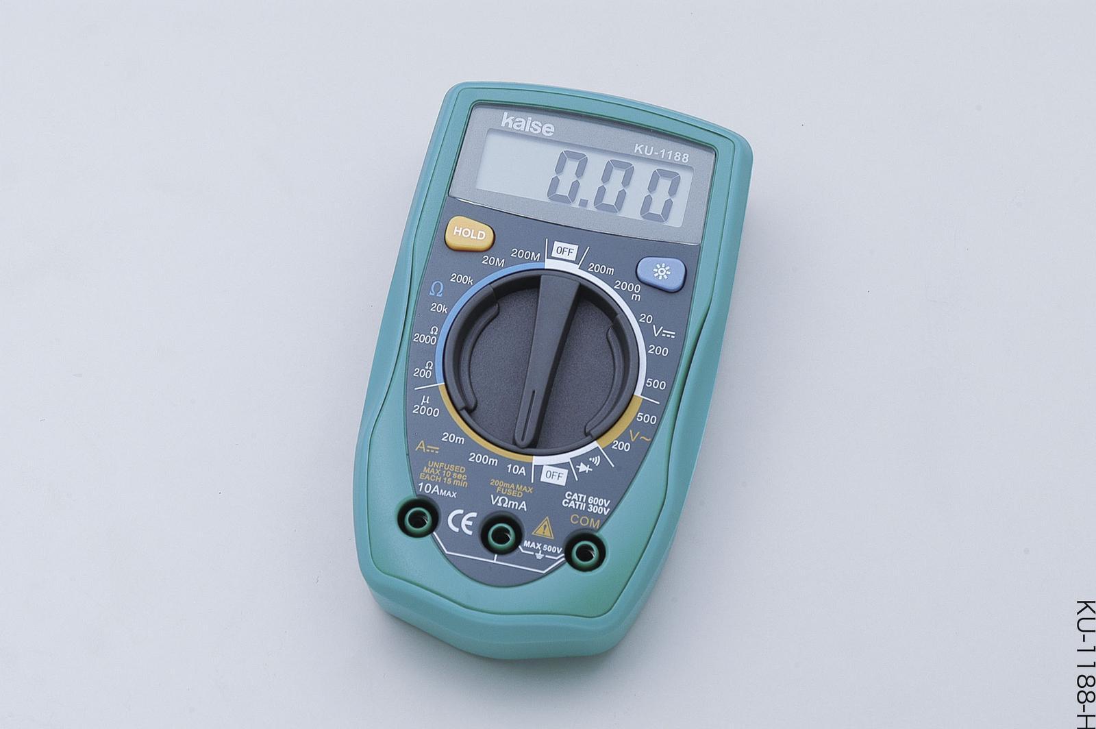 ELPA(エルパ) バックライト付き デジタルマルチメーター KU-1188【10P03Dec16】