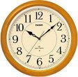 【送料無料】カシオ 電波時計 壁掛け時計 アナログ 掛け時計 アラビア数字 ブラウン 茶(CL11FB02) 秒針停止機能 LEDライト付き おしゃれな白木目調デザイン カシオ CASIO 電波時計 掛け時計