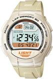 【送料無料】カシオ チープカシオ チプカシ スポーツウォッチ 10気圧防水 メンズ デジタル 腕時計 ホワイト 白(WSD11AUP-404海外版)距離計測機能 1/100秒ストップウォッチ 60ラップ 10年電池 LEDライト付き ランニングウォッチ CASIO マラソン ランニング 時計