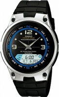 【ランニングウォッチ】カシオスポーツウォッチ5気圧防水腕時計ブラック(AW09P-6603)10年電池フィッシングギア魚釣りランニングウォッチカシオCASIO海外モデルマラソンランニング腕時計
